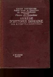 ABREGE D'HISTOIRE ROMAINE - CLASSE DE 5ème - Couverture - Format classique
