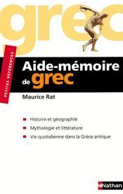 telecharger Aide-memoire de grec livre PDF/ePUB en ligne gratuit