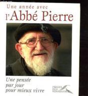 Une année avec l'abbé Pierre - Couverture - Format classique