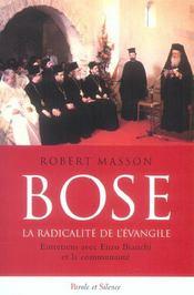 Bose la radicalite de l'evangile - Intérieur - Format classique