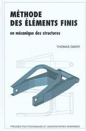 Meth elements finis meca - Intérieur - Format classique