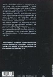 La Biologie De Dieu - 4ème de couverture - Format classique