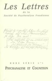 Revue Les Lettres De La Spf Hs N 1 - Psychanalyse Et Cognition - Couverture - Format classique