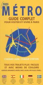 Metro Guide Complet Paris - Couverture - Format classique