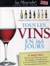 Tous les vins en 365 jours 2009 - Couverture - Format classique