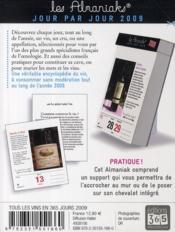 Tous les vins en 365 jours 2009 - 4ème de couverture - Format classique
