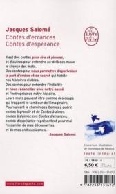 Contes d'errances, contes d'espérances - 4ème de couverture - Format classique