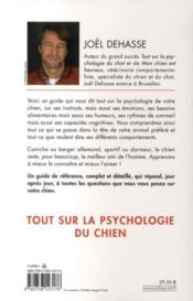 Tout sur la psychologie du chien - 4ème de couverture - Format classique