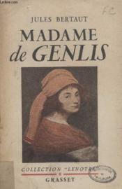 Madame De Genlis. - Couverture - Format classique