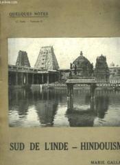 Quelques Notes - Deuxieme Partie - Sud De L'Inde - Hindouisme - Couverture - Format classique