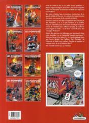 Les pompiers T.8 ; la ligue des sapeurs-héros - 4ème de couverture - Format classique