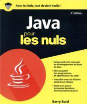 Java pour les nuls (4e édition) - Couverture - Format classique