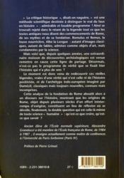 Fondation de rome (la) - 4ème de couverture - Format classique