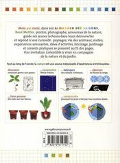 L'almanach des saisons - 4ème de couverture - Format classique