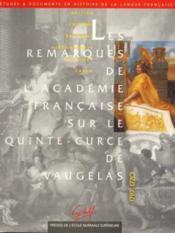 Remarques Sur Le Quinte-Curce De Vaugelas - Couverture - Format classique
