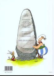Astérix T.26 ; L'Odyssée D'Astérix - 4ème de couverture - Format classique