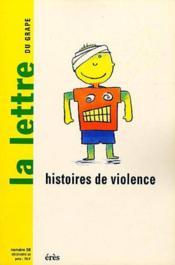 Lettre Du Grape N.38 ; Histoires De Violence - Couverture - Format classique