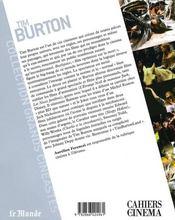 Tim Burton - 4ème de couverture - Format classique