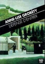 Defense D'Entrer - Couverture - Format classique