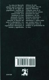 El Buscón. La vida del Buscón llamado Don Pablos - 4ème de couverture - Format classique