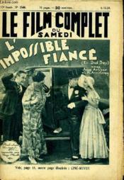 Le Film Complet Du Samedi N° 1544 - 13e Annee - L'Impossible Fiance - Couverture - Format classique
