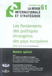 Les fondements des politiques étrangères des pays européens - Intérieur - Format classique