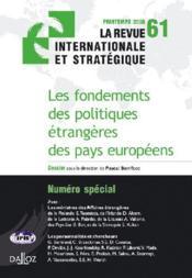 Les fondements des politiques étrangères des pays européens - Couverture - Format classique