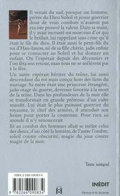 L'Aube D'Avaryan T.1 ; L'Heritier Du Soleil - 4ème de couverture - Format classique