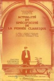 Actualite Et Specificite Dela Pensee Classique - Couverture - Format classique