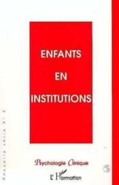 Enfants En Institutions - Couverture - Format classique