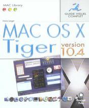 Mac os x tiger version 10.4 - Intérieur - Format classique
