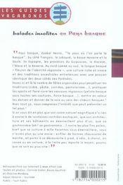 Balades Insolites Au Pays Basque - 4ème de couverture - Format classique