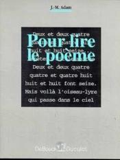 Pour lire le poeme - Couverture - Format classique