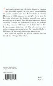 Contes et légendes des grands chemins - 4ème de couverture - Format classique