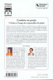 Conduire Un Projet 3eme Edition - 4ème de couverture - Format classique