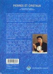 Pierres Et Cristaux - 5eme Ed. - 4ème de couverture - Format classique