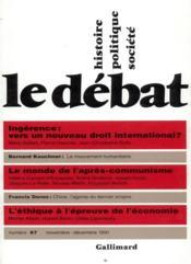 Revue Le Débat N.67 ; novembre-décembre 1991 - Couverture - Format classique