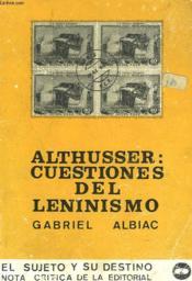 Althusser : Cuestiones Del Leninismo - Couverture - Format classique