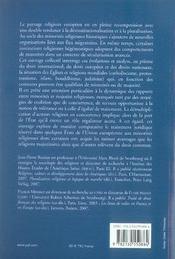 Minorités religieuses dans l'espace européen - 4ème de couverture - Format classique