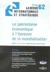 Le patriotisme économique à l'épreuve de la mondialisation (édition 2006) - Intérieur - Format classique