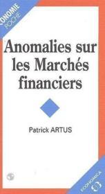 Anomalies Sur Les Marches Financiers - Couverture - Format classique