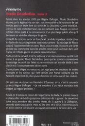 Mado dondedieu t2 - 4ème de couverture - Format classique