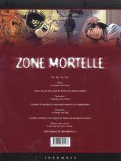 Zone mortelle t.1 ; cronos - 4ème de couverture - Format classique