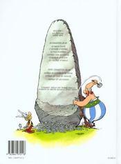 Astérix t.27 ; le fils d'Astérix - 4ème de couverture - Format classique