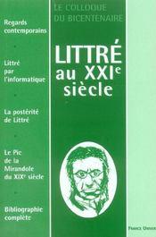 Littré au xxi siècle - Intérieur - Format classique