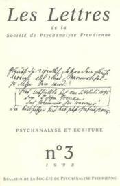 Revue Les Lettres De Spf N 3 1998 - Psychanalyse Et Ecriture - Couverture - Format classique