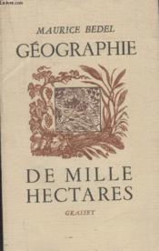 Geographie De Mille Hectares. - Couverture - Format classique