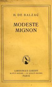 Modeste Mignon - Couverture - Format classique