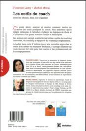 Les outils du coach ; bien les choisir, bien les organiser (2e édition) - 4ème de couverture - Format classique