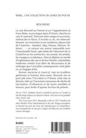 Boussole - 4ème de couverture - Format classique